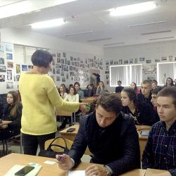Встреча будущих журналистов с Юлией Сагань